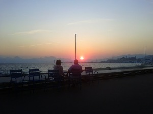 Sunset in Cannes