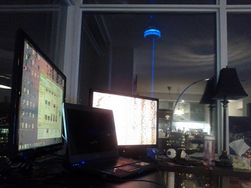 Poker with a view of CN Tower