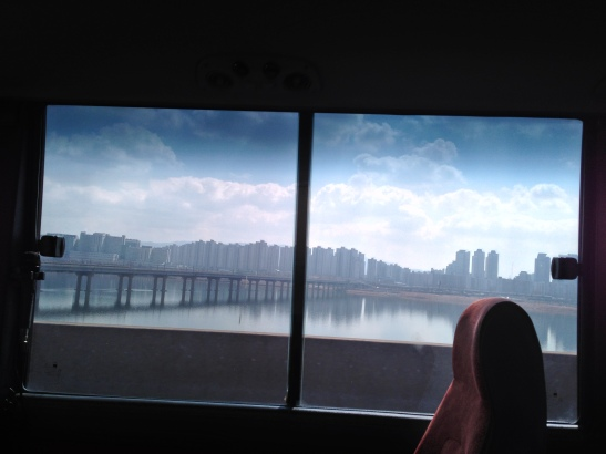 View of Suburban Seoul on Ride to Walkerhill Paradise Casino